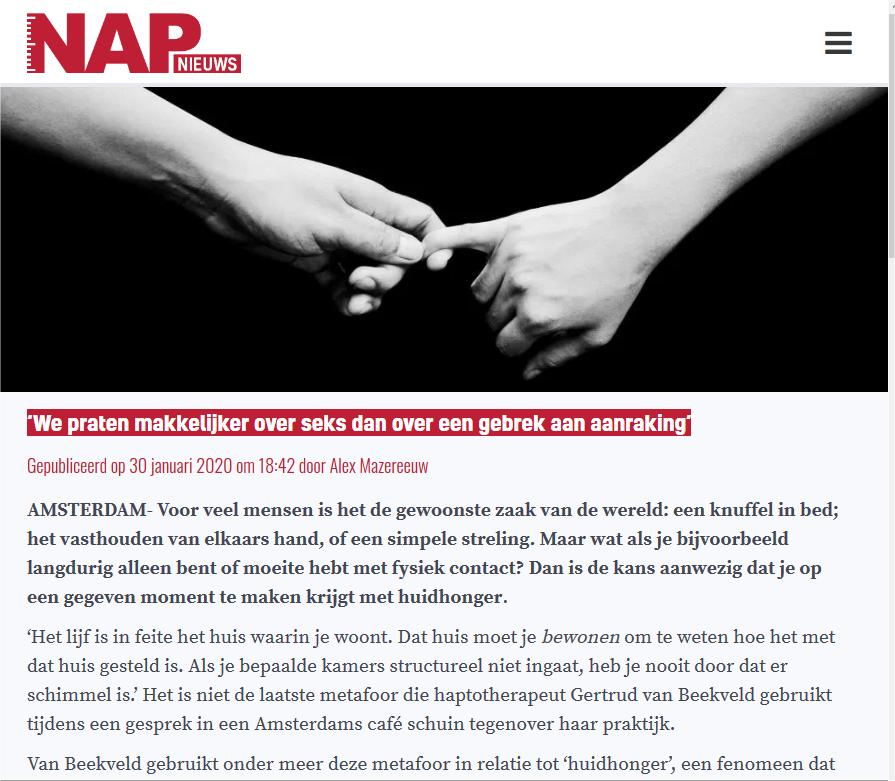 huidhonger-NAPnieuws-Amsterdam-haptotherapeut